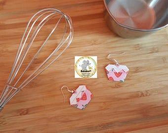 Earrings Cupcake _ Origami Paper