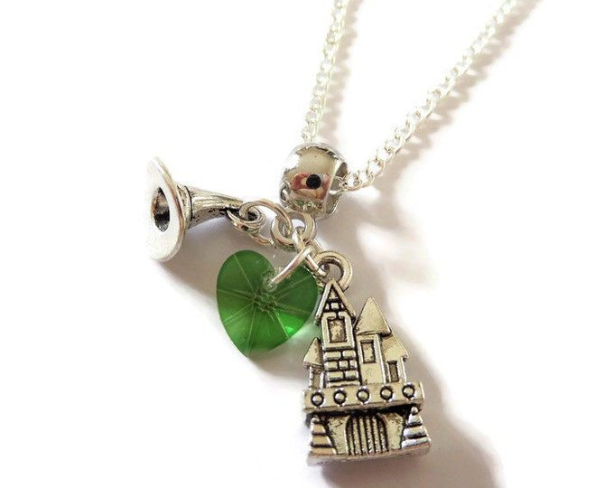 "ONCE UPON a TIME inspired Zelena Oz silver charm 20"" necklace wicked fan gift jewellery Uk"