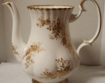 Vintage Royal Albert Bone China Coffee Pot in Antoinette Pattern