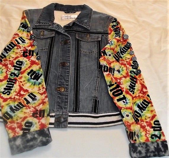 Refurbished Denim Girls Jacket, Size 12