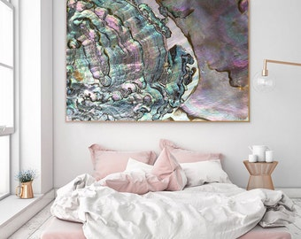 Mineral Photography - (Print #053)  Abalone -  Fine Art Print - Two Paper Choices- Mineral Geode Agate Crystal Decor