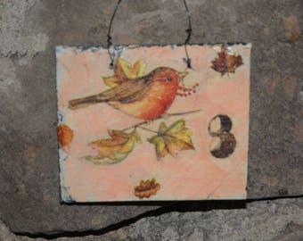 "slate ""autumnal"" theme table"