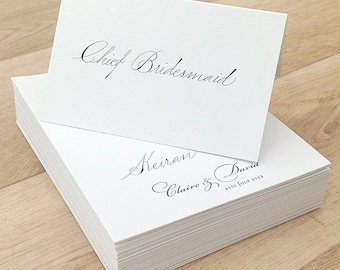 Wedding place name calligraphy service