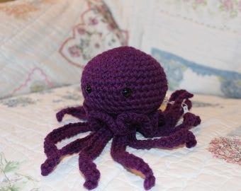 Crocheted Purple Jellyfish/Octopus