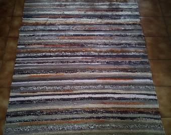 Rag Rug Handwoven Scandinavian Style ECO