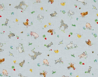 Country Days Small Animal Toss  Cotton Quilt Fabric Red Rooster  By the Yard