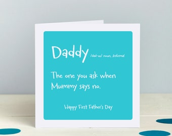 Fathers Day Card - Daddy Card, Dad Card - Funny Daddy Card - New Dad Card - Daddy Birthday Card