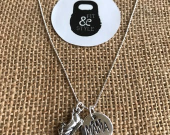 Fit Mama Sterling Silver Necklace
