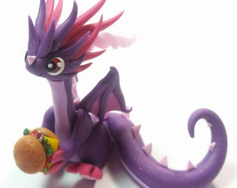 Burger-eating purple dragon