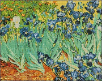 Vincent Van Gogh  IRISES cross stitch pattern No.86