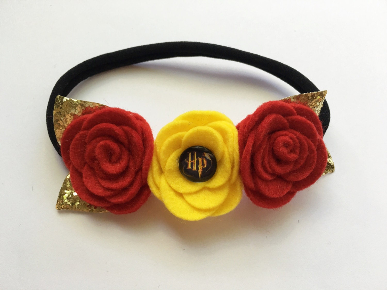 Gryffindor flower crown harry potter inspired headband zoom izmirmasajfo Images