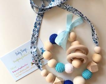 SET Breastfeeding Necklace & Teething Toy