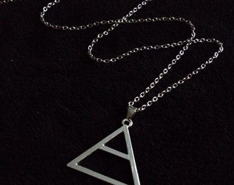 80p UK P&P 30 seconds to mars Triad pendant on 24inch chain silver UK SELLER jared leto love echelon symbol joker handmade