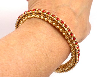 """Beading4perfectionists:  """"No loose ends"""" bracelet beading pattern tutorial PDF file"""