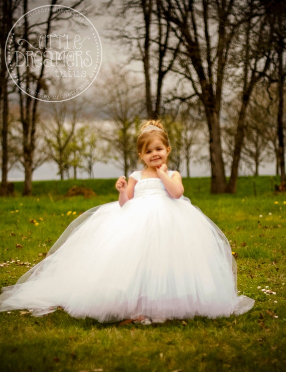 The miniature bride flower girl dress with detachable train mightylinksfo
