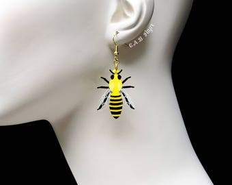READY MADE SALE - Bee Earrings - The Bee's Knees Collection - Laser Cut Earrings (C.A.B. Fayre Original Design)