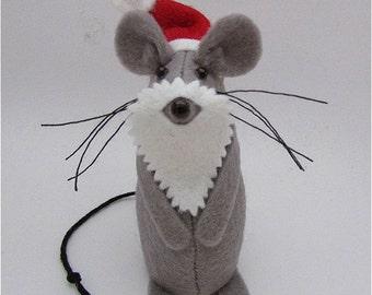 Santa Mouse - Santa Claus - Felt Mouse - Felt Mice - Mouse Christmas Decoration