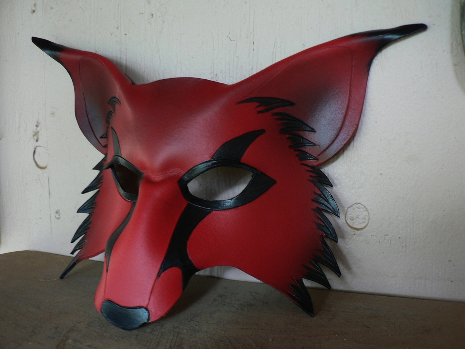 wolf kitsune leather mask cosplay fox mask