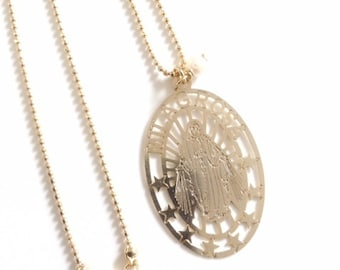 ice products mary gold mother king necklace hop hip kingice necklaces medallion