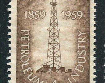 Petroleum Industry Stamps/10 Brown Unused Vintage Stamps 1959