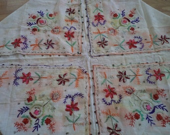 """free shipping  OTTOMAN  silk embroidered scarves  SİZE =  40"""" X 40"""" ( 100 cm X 100 cm)"""