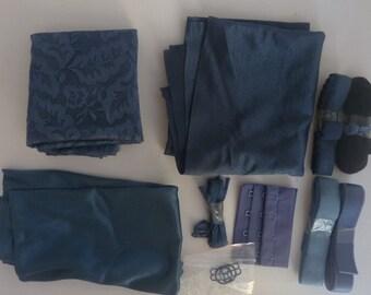 Bra making kit bra fabric lingerie supplies kit underwear brassiere accessories lace tricot powernet strap elastic lingerie elastic straps