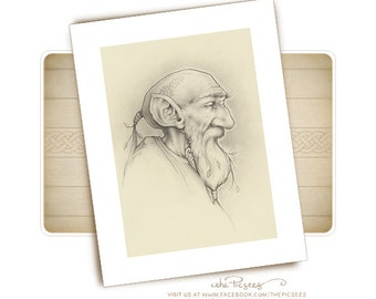 A limited edition ART PRINT (giclée) of O'Hans, the ferryman of Amsterdam...by the Picsees