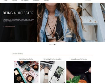 Responsive Blogger Theme - Blogger Template - Premade Blogger Template - Blogger Template simple - Grid Layout - Blogspot - Glamour Theme