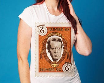 THE PRISONER on Various Colours of Ladies T-shirt