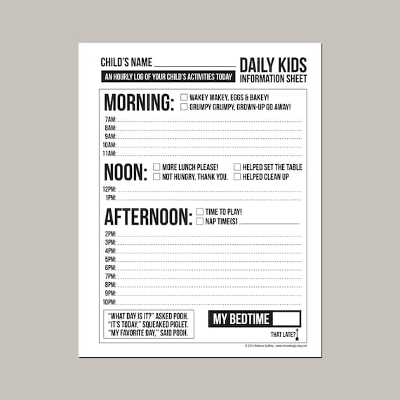 Baby daily sheets printable free worksheet coloring pages daily babysitting or nanny report printable pdf sheet preschool daily reports for parents altavistaventures Gallery