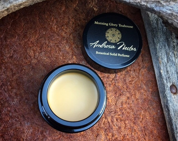 AMBROSIA NECTAR Botanical Solid Perfume ~ exotic, honeyed floral and saffron-infused, sweet balsamic wood resembling the honeysuckle vine