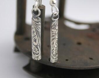 Sterling Silver Earrings - Dangle - Handmade