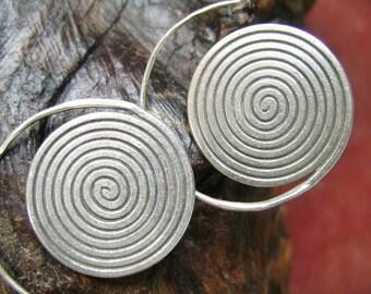 Thai Spiral Silver Earrings - The Swirl World (1)