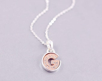 G Letter Necklace | G Initial Necklace | G | Letter Necklaces | Personalised Jewelry | Minimal Necklace | G Tiny Letter Necklace |S