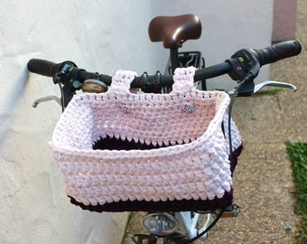 Bicycle basket. Basket for bike handlebar.
