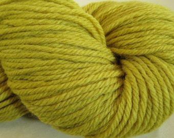 Plant-Dyed Wool Yarn - Bulky - Foraged Natural Dye - Goldenrod - YAB101732 - 100 grams