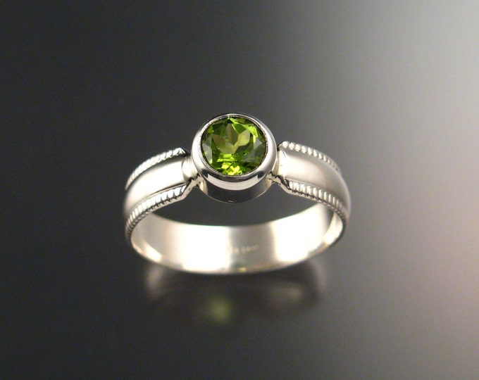 Peridot Ring Sterling silver Made to order in your size