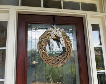 made deco wreath beach santa wreaths front christmas doors ready coastal ship mesh order to door pin