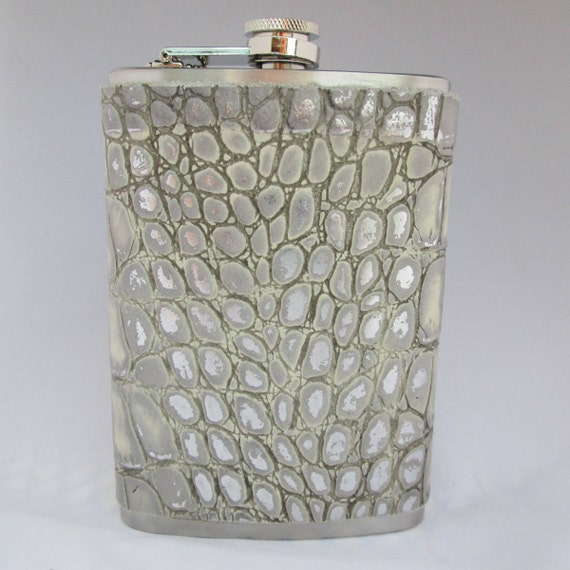 Every Day Collection White Crocodile Flask