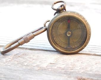 Custom Keychain, Personalized Keychain, Keychain Compass, Compass Keychain, Engraved Keychain, Personalized Compass, Compass, Fathers day
