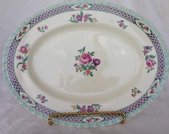 "Myott vintage oval platter, 12 1/2"" X 9 3/4"""