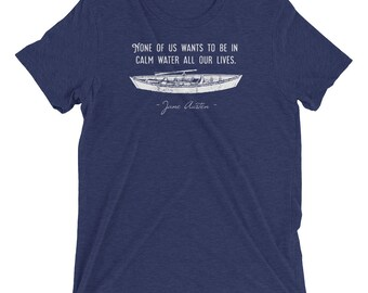 Calm Water - Jane Austen - Persuasion - Short sleeve t-shirt