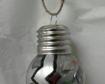 Painted and mixed media ornament