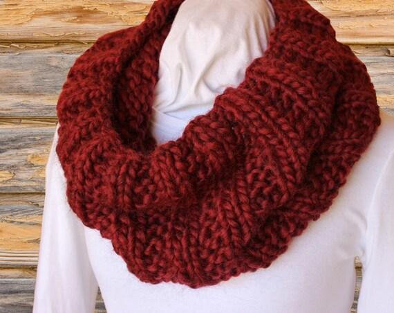 Chunky Knit Cowl Pattern Mega Chunky Knit Cowl Knitting