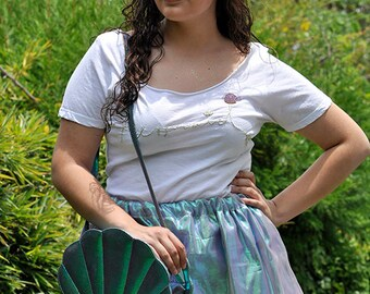 SALE before 45usd iridescent Layered skirt / mermaid skirt