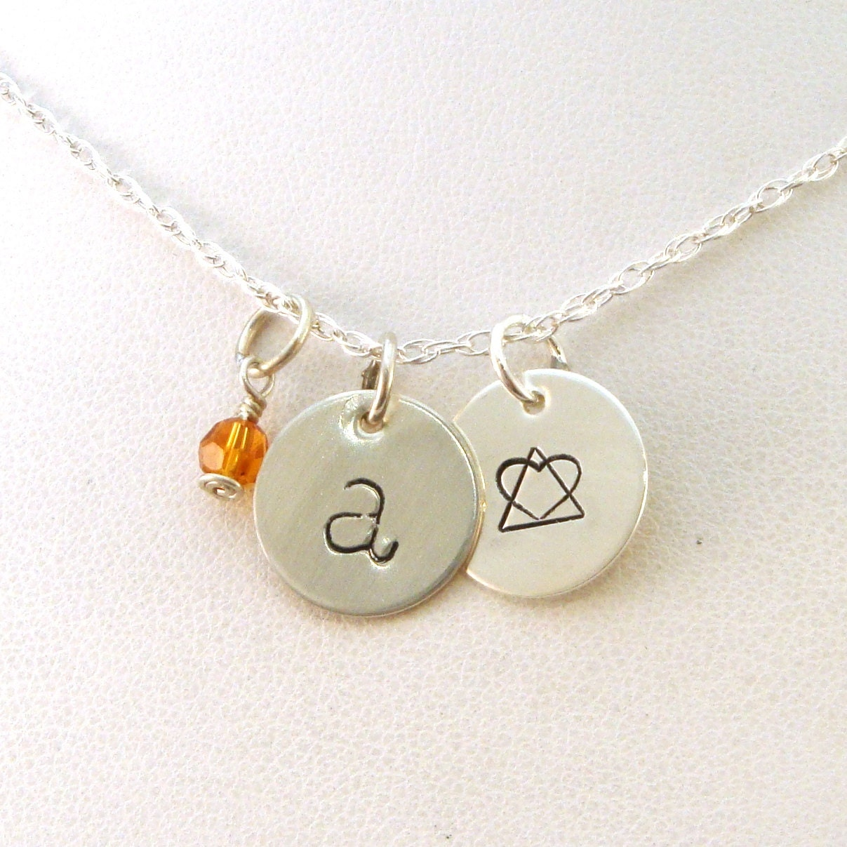 Gotcha day gift letter and birthstone necklace with adoption zoom buycottarizona Image collections