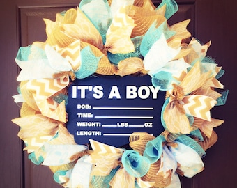 Baby wreaths, It's a Boy wreath, Delivery Baby wreath