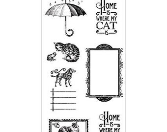 G45 - RAINING CATS and DOGS  Stamp Set #3  Last One !!
