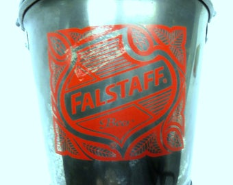 Vintage Falstaff St. Louis Spassfest Germantown Illinois Beer Bucket Change Bucket Catch All Desk Organizer St. Louis Brewery Display Ready