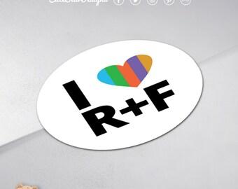 Custom R+F Round Sticker / Envelope Seal